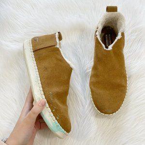 SKECHERS Vulc 2 Suede Faux Fur Tan Ankle Boots